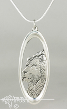 Solid Sterling Silver 'Lion' Pendant